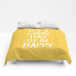 It's a Good Day to Be Happy - Yellow Comforters