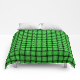 Small Lime Green Weave Comforters