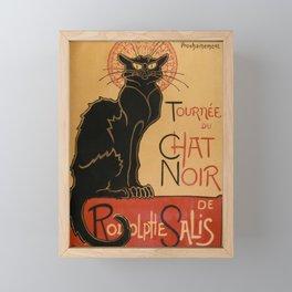 Le Chat Noir The Black Cat Poster by Théophile Steinlen Framed Mini Art Print