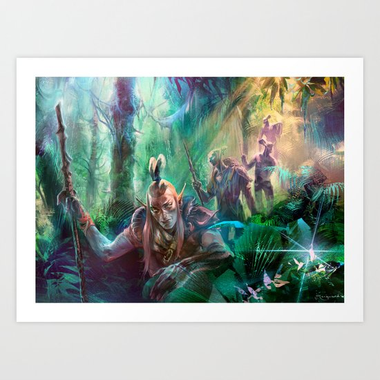 Into the Wilds Art Print