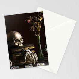 Vanitas, Memento Mori, Macabre Halloween Photo Stationery Cards