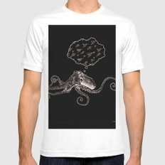 Octopus Daydream Mens Fitted Tee White MEDIUM