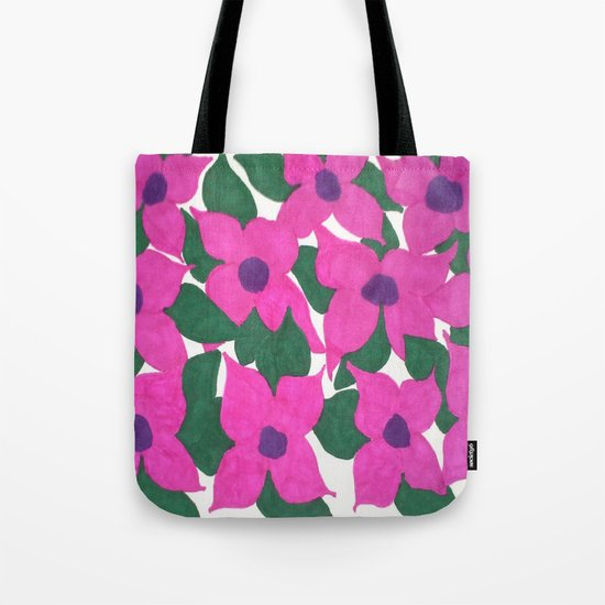 Spring Classic Pink Flowers Tote Bag