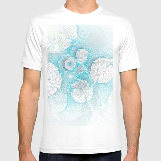 Turquoise Fractal T-shirt