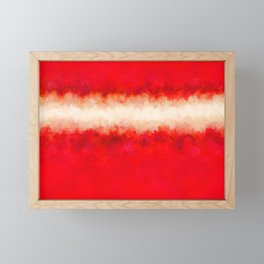 Bright Ruby Red & Cream Abstract Framed Mini Art Print