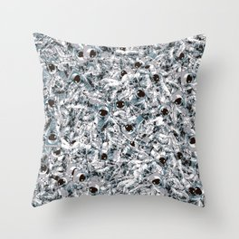 Crowded Space Throw Pillow
