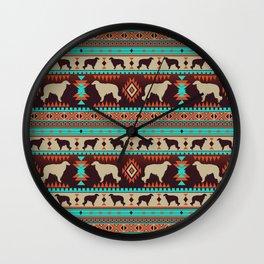 Boho dogs | Borzoi / Russian wolfhound sunset Wall Clock