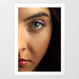Woman's Eye Art Print