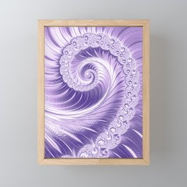 Ultra Violet Luxe Spiral Pattern   Trendy Color of the Year 2018 Framed Mini Art Print