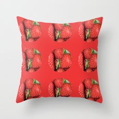 Strawberry Berries Throw Pillow