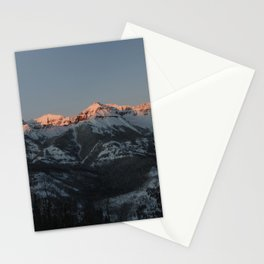 The majestic peaks of the Teton Range reflect in a mountain stream in Grand Teton National Park in n Stationery Cards