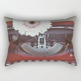 Message of Love Typewriter Rectangular Pillow