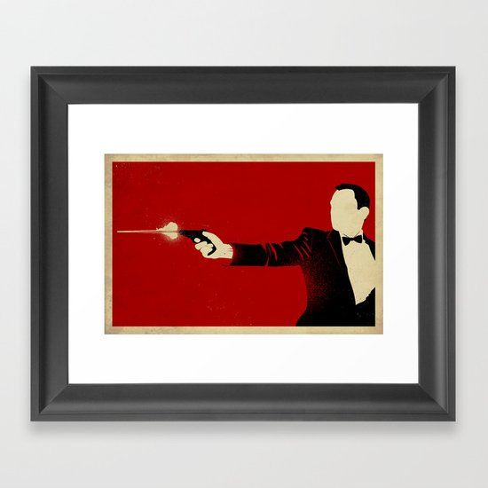 The Double Agent Framed Art Print
