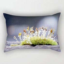 Maco photography Moss Water Drop Rain drops dew Green nature photography Rectangular Pillow