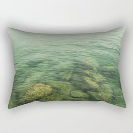 Rock, stones, pebbles photographed under the water surface Rectangular Pillow