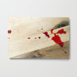 red cherry juice Metal Print