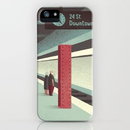 Day Trippers #3 - Waiting iPhone Case