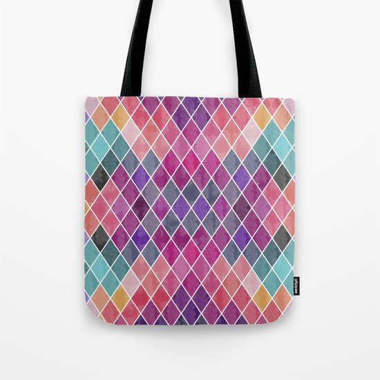 Watercolor Geometric Pattern Tote Bag