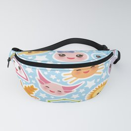 Funny Kawaii zodiac sign Fanny Pack