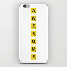 Awesome scrabble iPhone & iPod Skin
