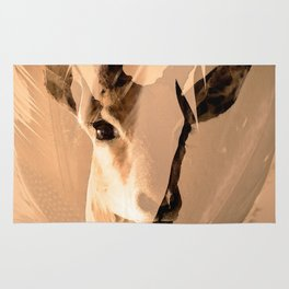 Beautiful and fast - Impala portrait Rug