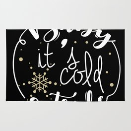 Baby It is Cold Outside Rug