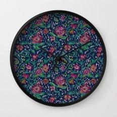 Pixel Flowers Wall Clock