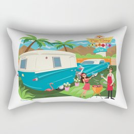 Relic 3 Vintage Travel Trailers, Caravans, Campers and Glamping Art Rectangular Pillow