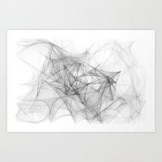 Sketching in the void Art Print
