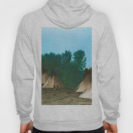 Assiniboine Camp - American Indian Tipis Hoody