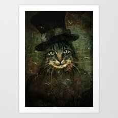 The other cat in the hat Art Print