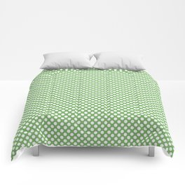Grass Green and White Polka Dots Comforters