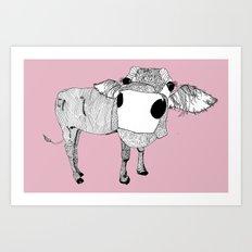 Cowface Art Print