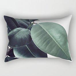 Ficus Elastica #18 #White #foliage #decor #art #society6 Rectangular Pillow