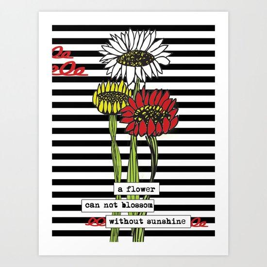 Sunshine flowers Art Print