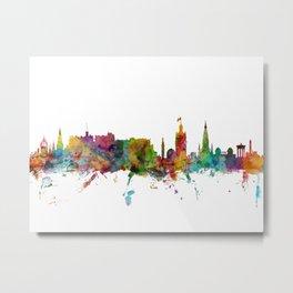 Edinburgh Scotland Skyline Cityscape Metal Print