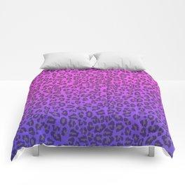 Pink and purple cheetah print Comforters