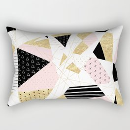 Modern gold geometric abstract design Rectangular Pillow