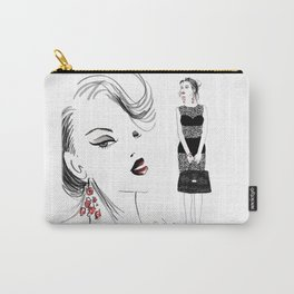 Black Lace Carry-All Pouch