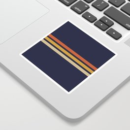 Vintage Retro Stripes Sticker