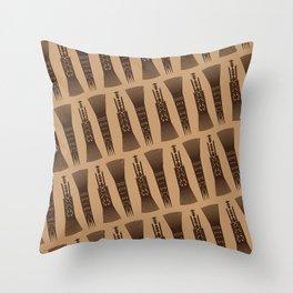 UrbanNesian Samoan Selu (Samoan Comb) Throw Pillow