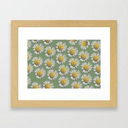 pastel daisy mania Framed Art Print