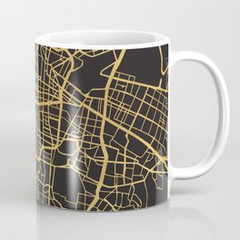 MEXICO CITY GOLD ON BLACK CITY MAP Coffee Mug