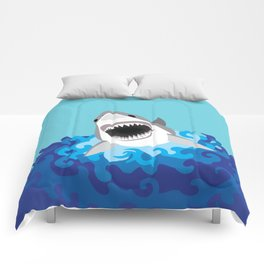Great White Shark Attack Comforters