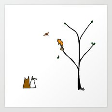 Little bird. Art Print