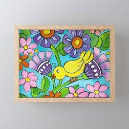 Springtime Series #5 Singing Bird Framed Mini Art Print