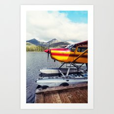 Docked Seaplane Art Print