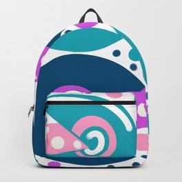 Green cheese retro geometric circles print Backpack