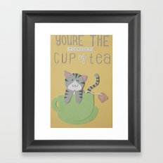 You're The Purrfect Cup Of Tea Framed Art Print