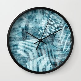 Blue safari Wall Clock